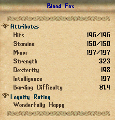 an example of a blood fox with over 190 natural dexterity