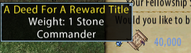 Commander Reward Title