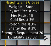 Naughty Elf's Gloves