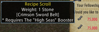 Crimson Sword Belt